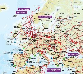 podrobná plynárenská mapa Evropy (500 kB)