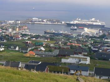 Tórshavn od hotelu aubytovny