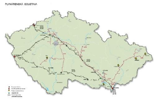 Plynárenská soustava RWE Transgas, a.s.