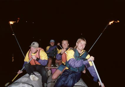 night-rafting