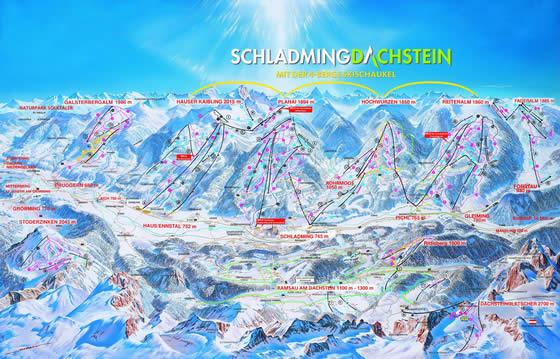 skimapa-Schladming-Dachstein