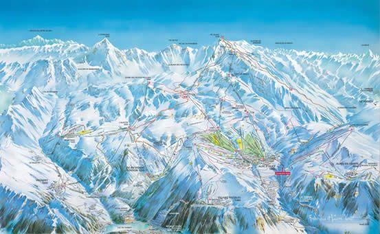 Skimapa Alpe d´Huez