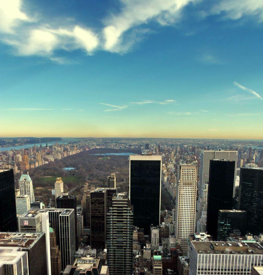 Výhled z Top of the Rock na Central Park