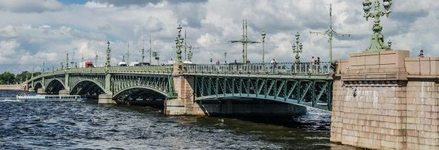 Trinity Bridge in Saint Petersburg