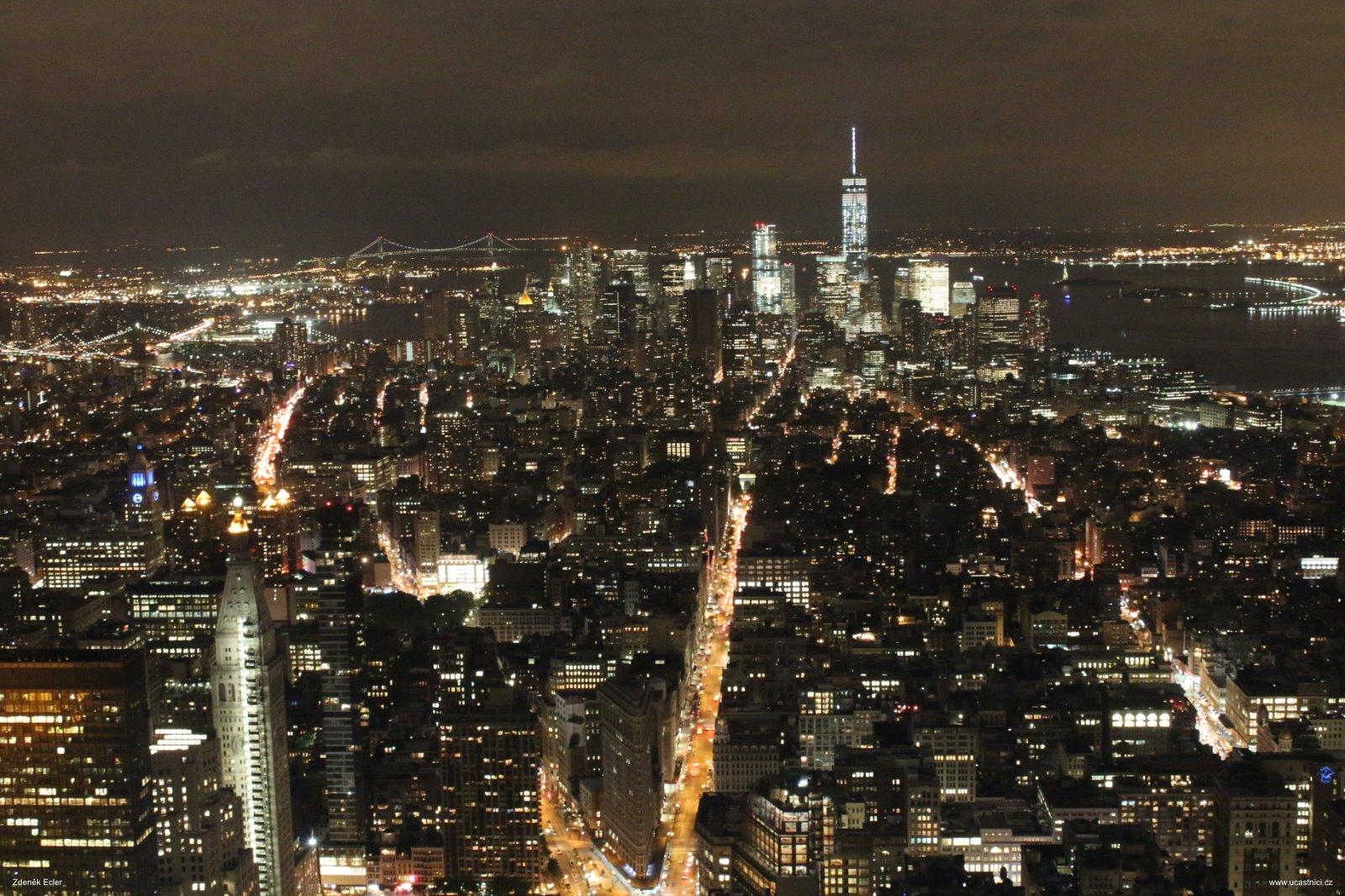 Noční výhled z Empire State Building, autor: Zdeněk Ecler