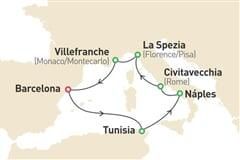 Plavba Středomořím (z Barcelony) na lodi Sovereign **** AI