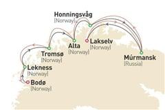 Plavba Půlnoční slunce (z Bodø) na lodi Empress ****AI