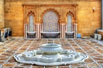 Fountain at the Mausoleum of Mohammed V in Rabat - Morocco_shutterstock_593479928
