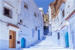Stairway in the blue medina of Chefchaouen, Morocco_shutterstock_683944888