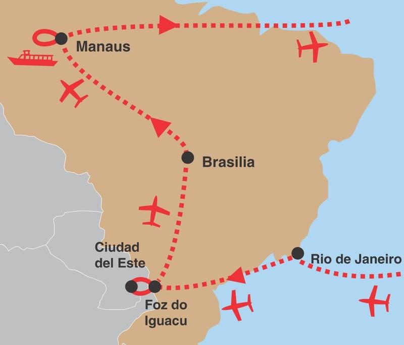 Brazilie amazonie 02 trasa
