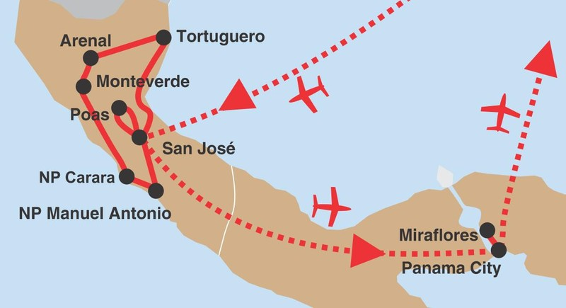 Kostarika panama 02 trasa