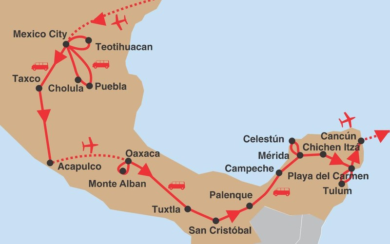 Mexiko krizem krazem 02 trasa