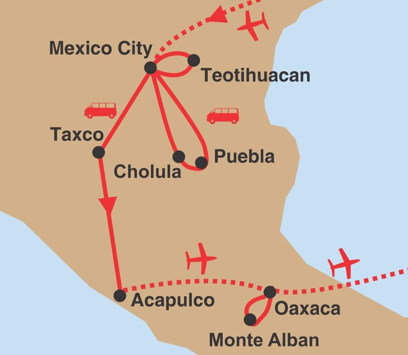 Svet azteku 02 trasa