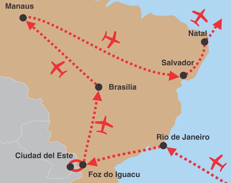Velka cesta brazilii 02 trasa