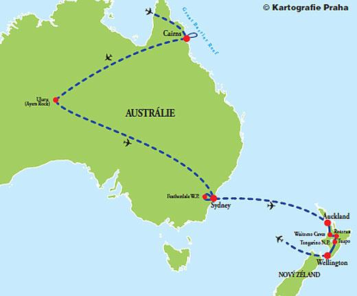 Foto - Austrálie - Nový Zéland
