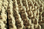 Miniature replicas of Terracotta Army buried with the Emperor of Qin ni 209-210 BC in Xian, China._shutterstock_11025709