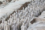 Restored Terra Cotta Warriors in a museum in Xian, China_shutterstock_140753317