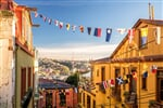 Colorful buildings of the UNESCO World Heritage city of Valparaiso, Chile_shutterstock_4290631571