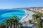Cannes Front view of the Mediterranean sea, bay of Angels, Nice, France