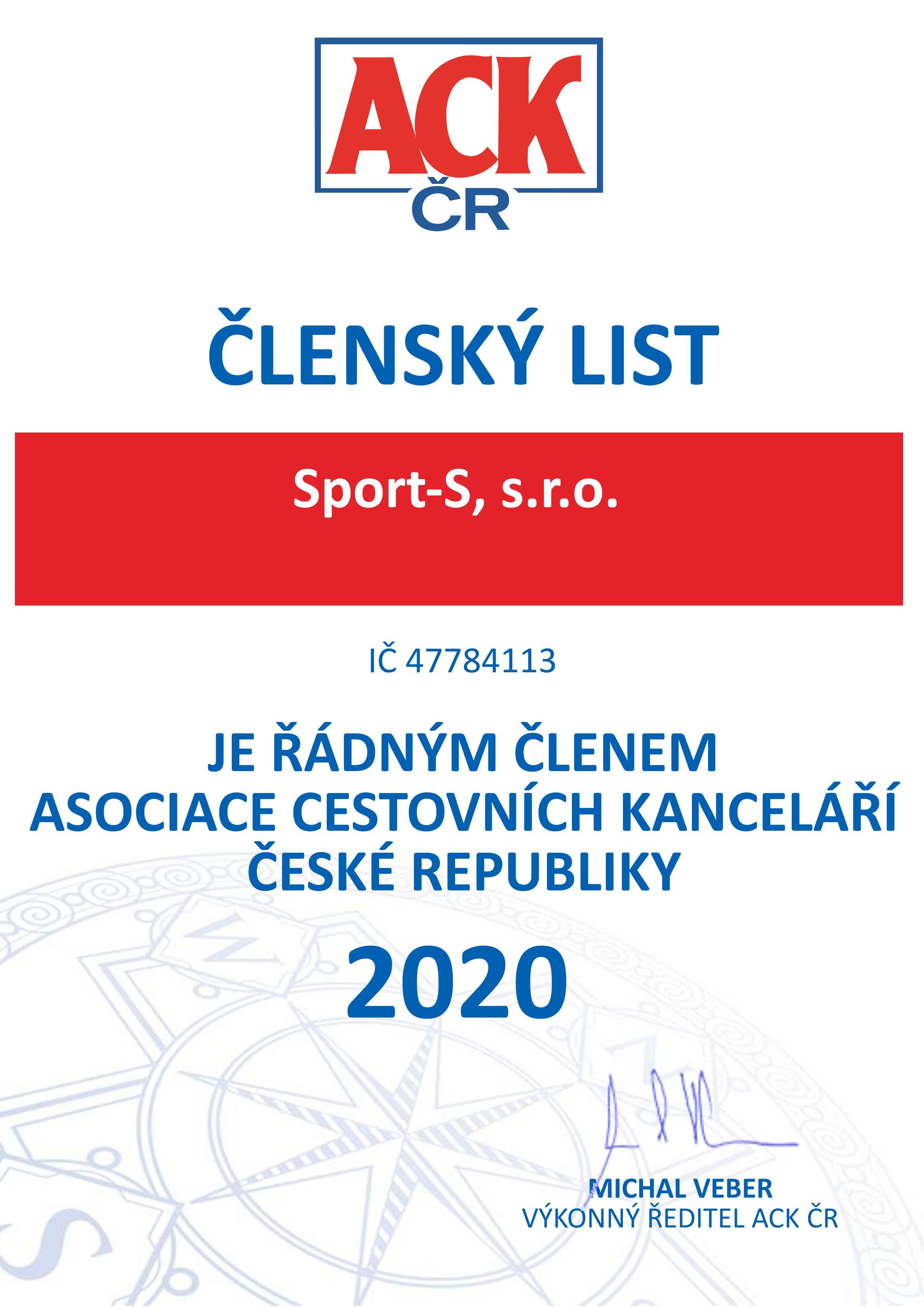 Sport - S, s.r.o.2020