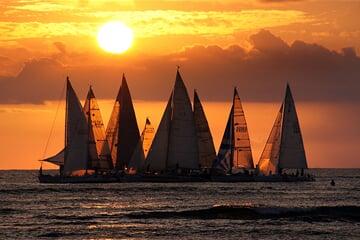 sailboats, sailing, water