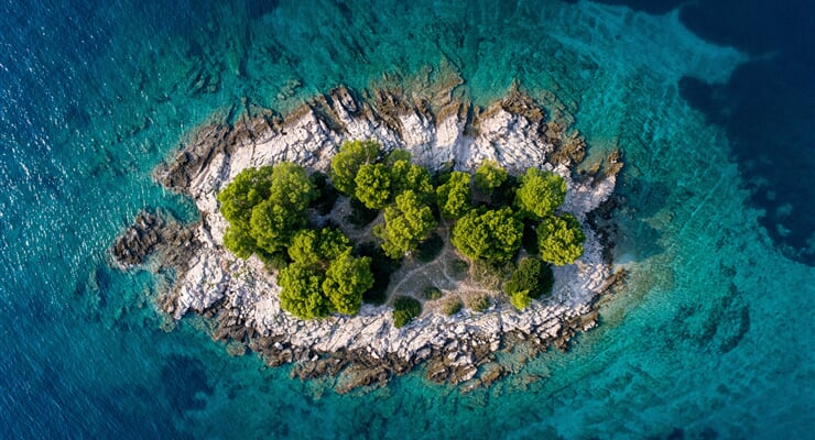 island, sea, croatia