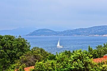 sea, sail boat, coast, sardinie
