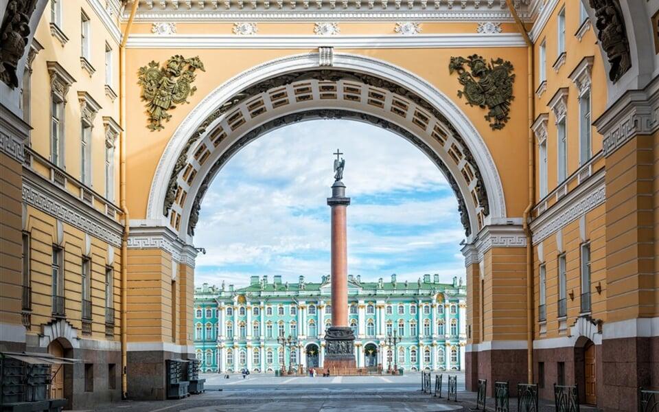 Rusko - Petrohrad - Palácové náměstí - Alexandrijský sloup