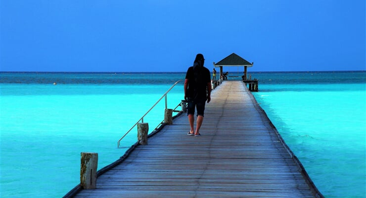 maldives, the pier, bridge, maledivy, moře, exotika
