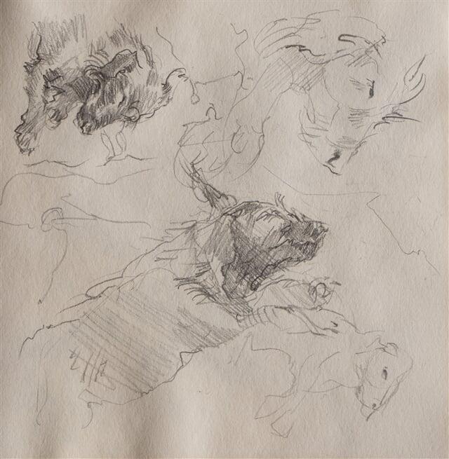 Dog figures III - pencil