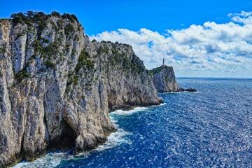 Útesy ostrova Lefkada