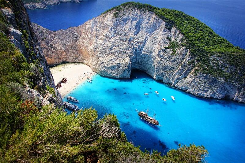 Pláž Navagio, symbol ostrova Zakynthos