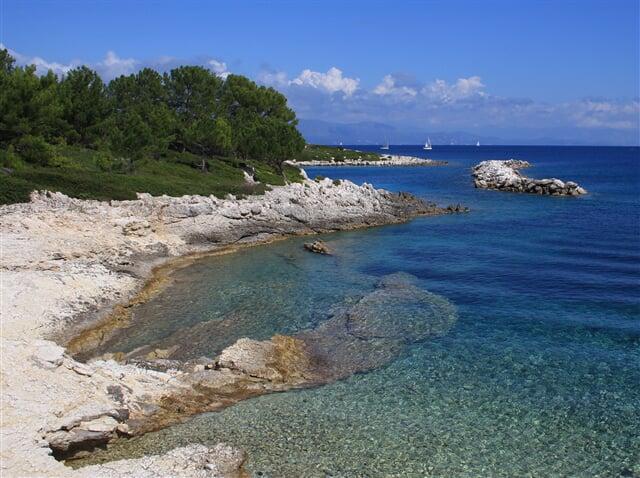 Okolí Gaios, hlavního města ostrova Paxos