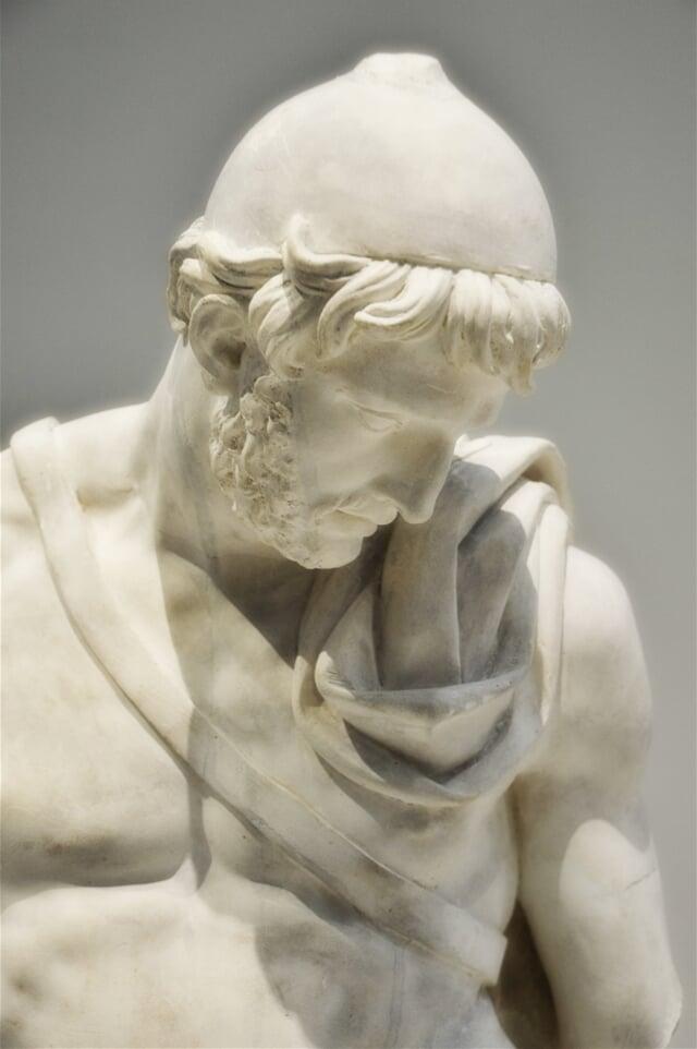 Socha ithackého krále z řecké mythologie
