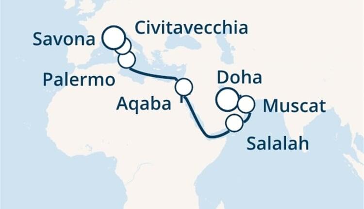 Trasa plavby CPA-DOH17002