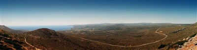 Panorama řeckého ostrova Kythira