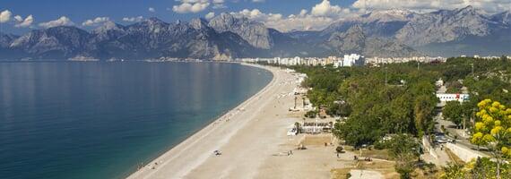 Antálie, nejkrásnější pláže Turecka
