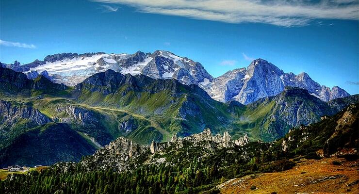 Italské Dolomity, štíty Marmolada