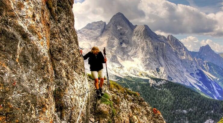Ferraty v Dolomitech kolem masivu Marmolada