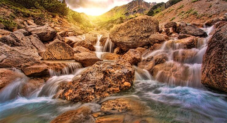 Alpské vodopády