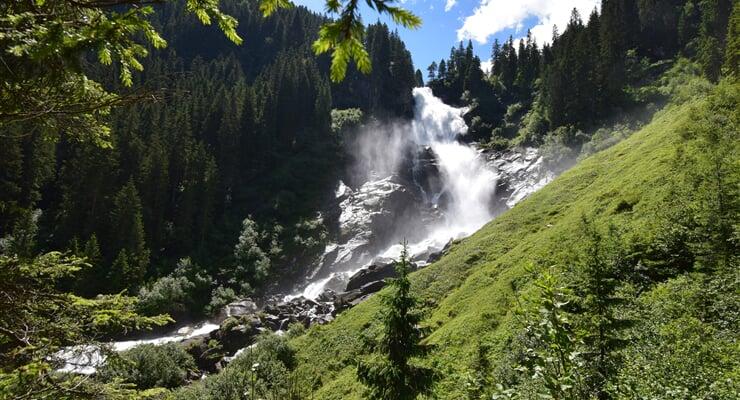 Krimmelské vodopády v národním parku Vysoké Taury
