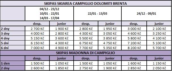 madonna + skiarea campiglio 2021 2022