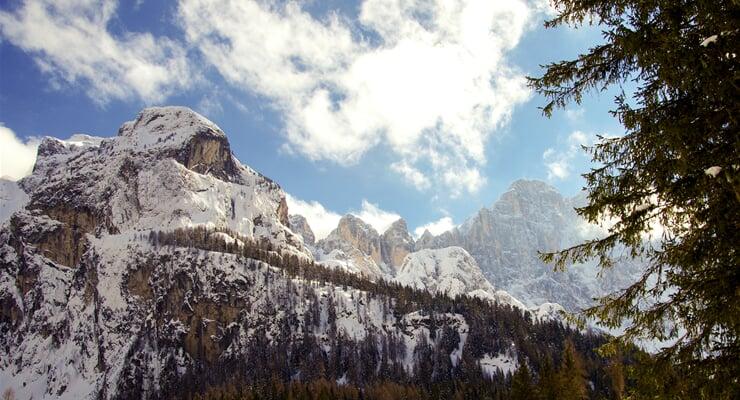 Monte Civetta v Dolomitech v oblasti Dolomiti Superski