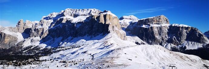 Lyžování v Alta Badia