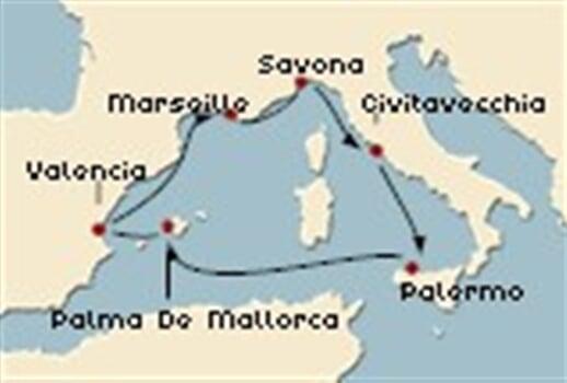 Trasa plavby CSE-PMO06007