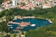 panorama s jezerem