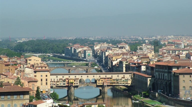 Florencie - Arial view of Florence, Italy