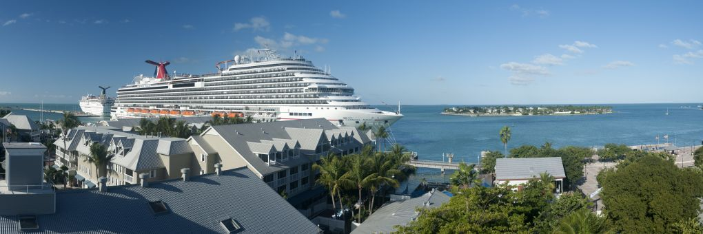 carnival Magic na moři panorama key west