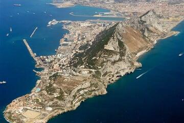 Gibraltar aerial view looking northwest Velká Británie