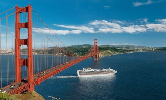 Grand Princess in San Francisco Bay